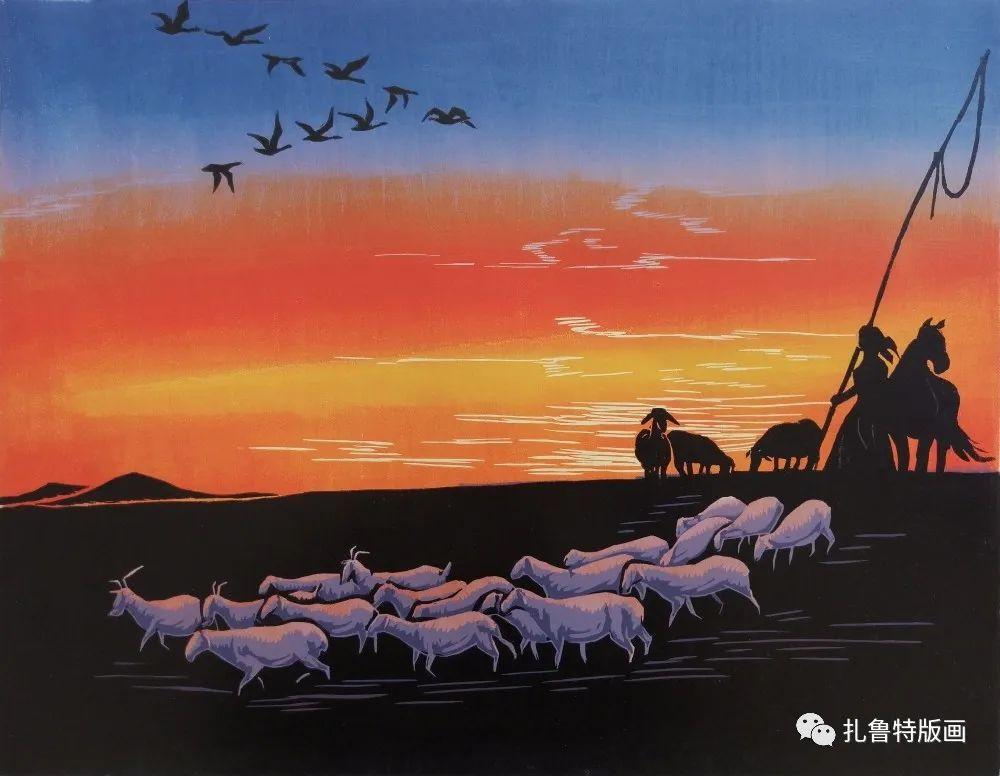 哈斯高娃版画作品欣赏 第15张 哈斯高娃版画作品欣赏 蒙古画廊