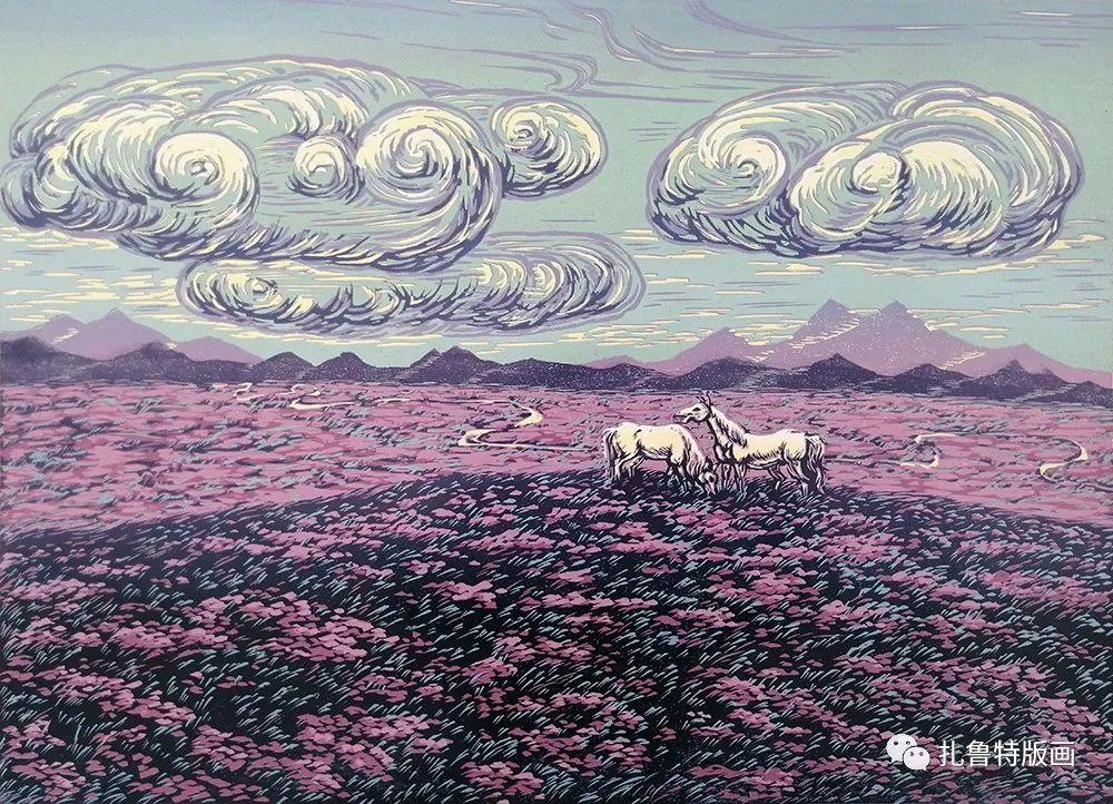 哈斯高娃版画作品欣赏 第19张 哈斯高娃版画作品欣赏 蒙古画廊