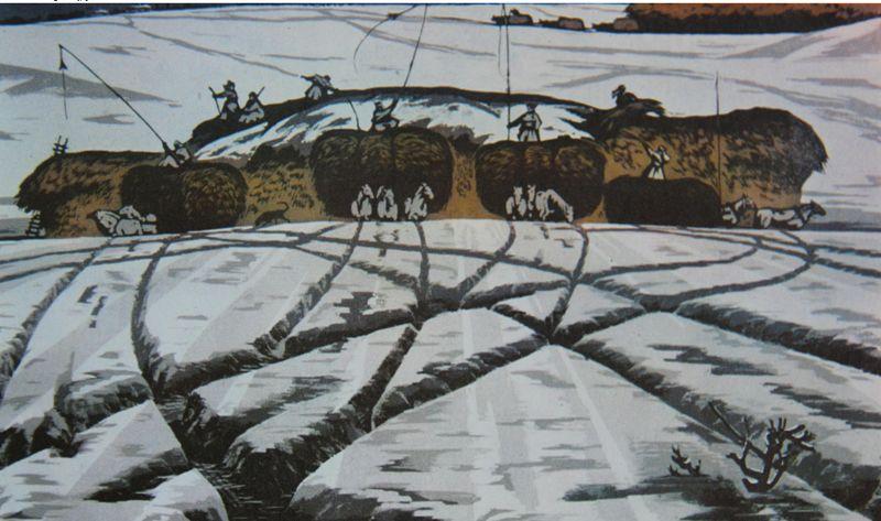 达尔罕草原文化瑰宝——科左中旗版画 第13张 达尔罕草原文化瑰宝——科左中旗版画 蒙古画廊