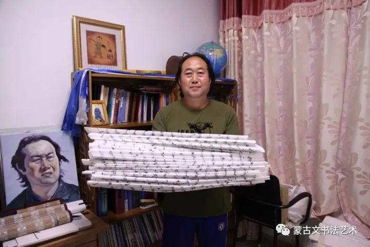 扎仁琴蒙古文书法 第1张