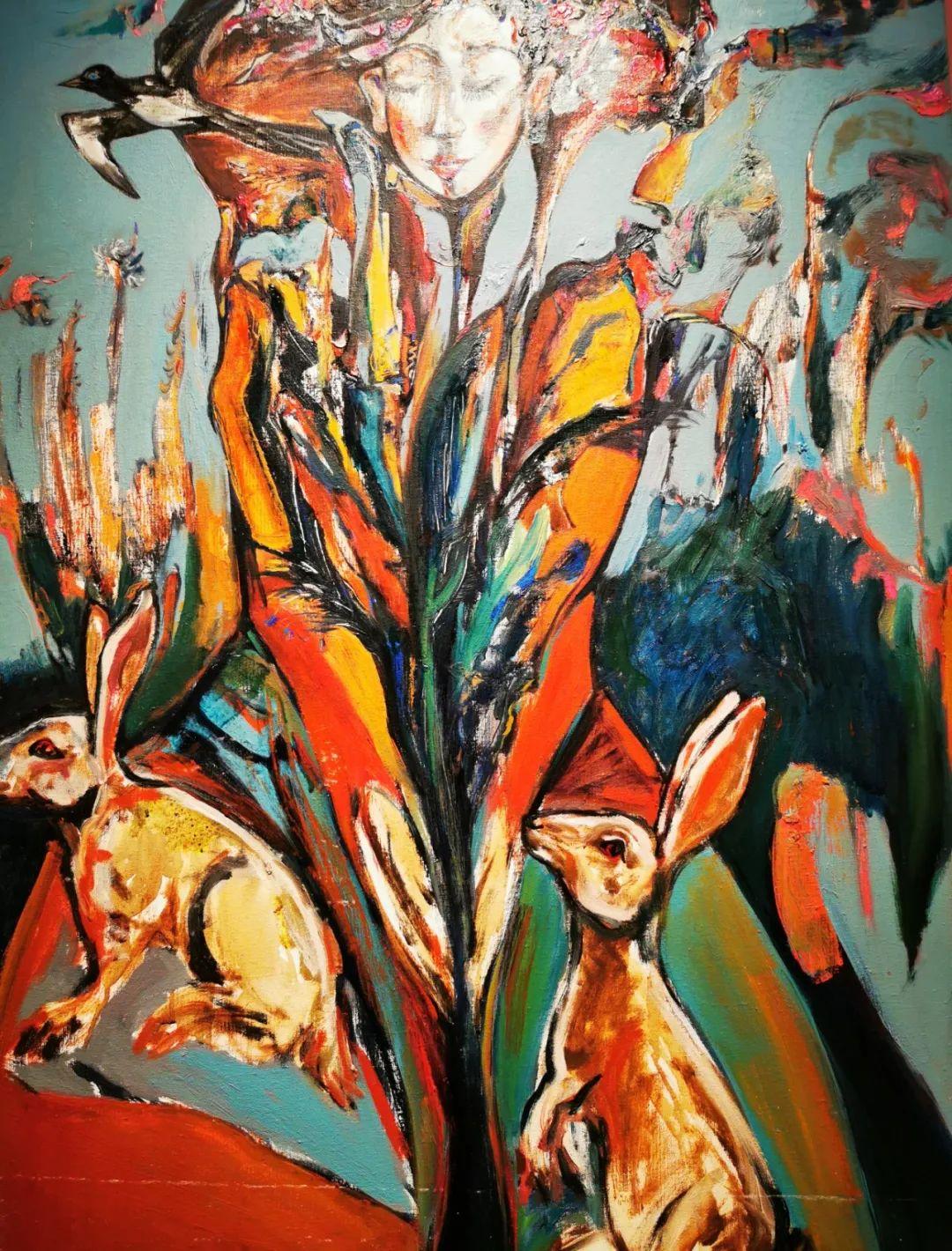 疫情期间蒙古国艺术家莫德格玛在中国创作了80余幅画作 第5张