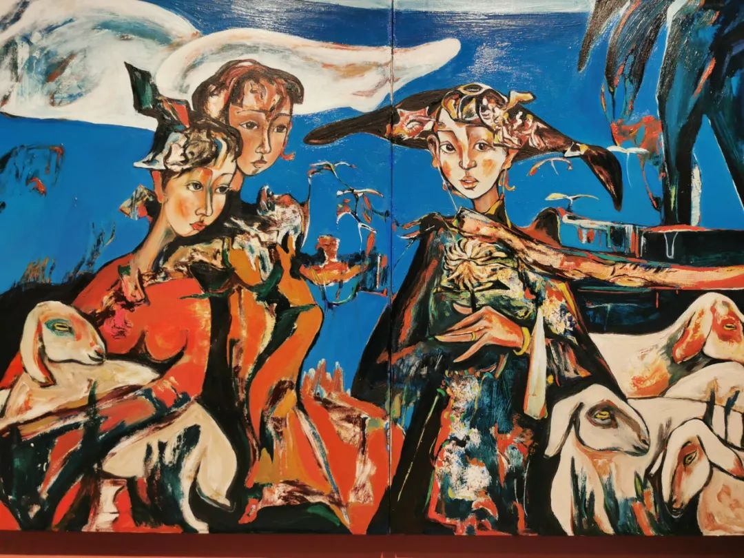 疫情期间蒙古国艺术家莫德格玛在中国创作了80余幅画作 第10张