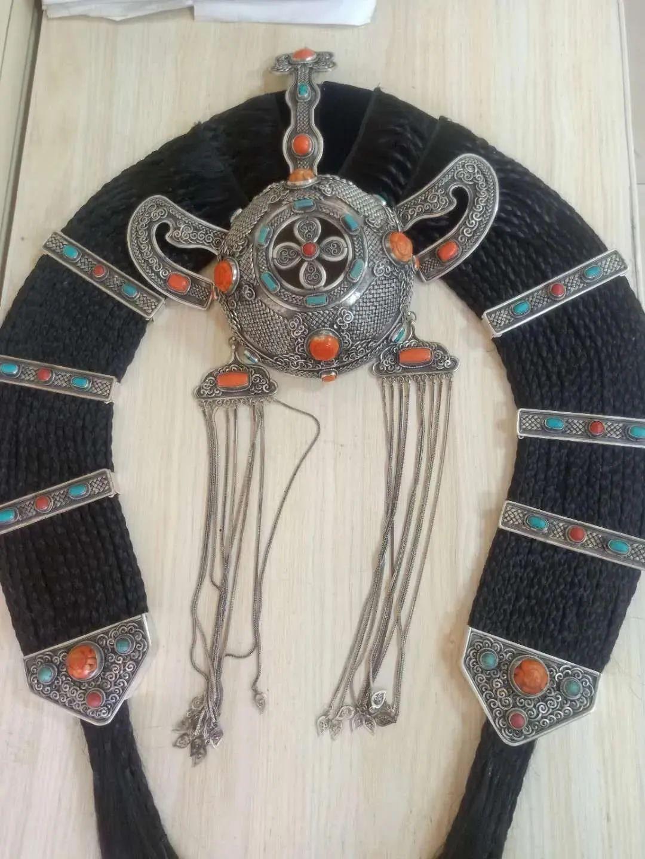 一年20份订单!牧民纯手工打造的蒙古族头饰广受欢迎 第6张