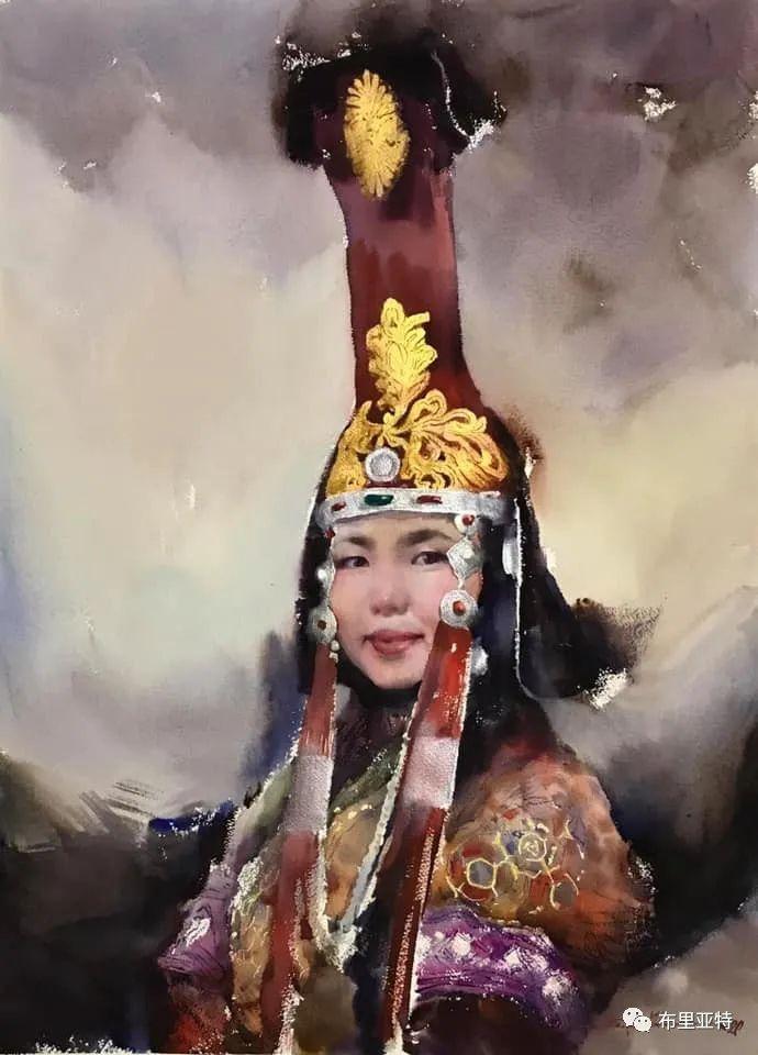 蒙古国少有的水彩画大师孟赫巴特尔作品欣赏 第1张 蒙古国少有的水彩画大师孟赫巴特尔作品欣赏 蒙古画廊
