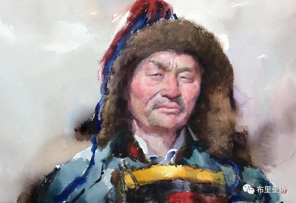 蒙古国少有的水彩画大师孟赫巴特尔作品欣赏 第2张 蒙古国少有的水彩画大师孟赫巴特尔作品欣赏 蒙古画廊
