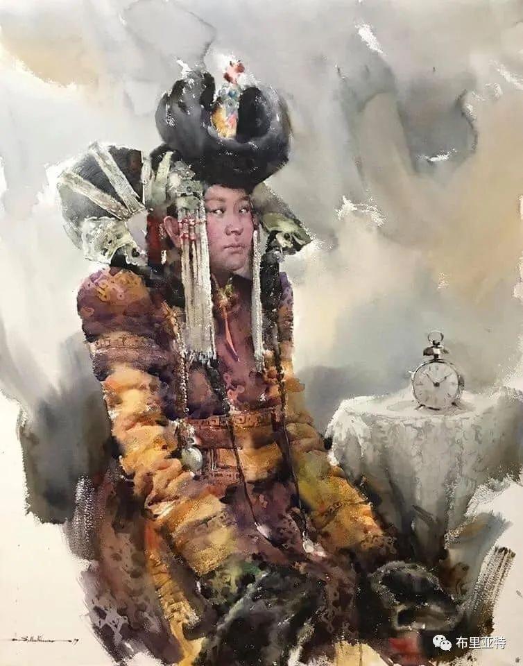 蒙古国少有的水彩画大师孟赫巴特尔作品欣赏 第3张 蒙古国少有的水彩画大师孟赫巴特尔作品欣赏 蒙古画廊