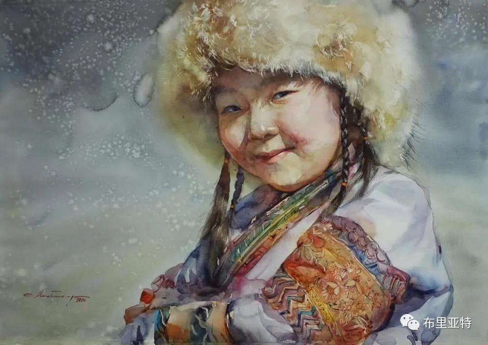 蒙古国少有的水彩画大师孟赫巴特尔作品欣赏 第4张 蒙古国少有的水彩画大师孟赫巴特尔作品欣赏 蒙古画廊