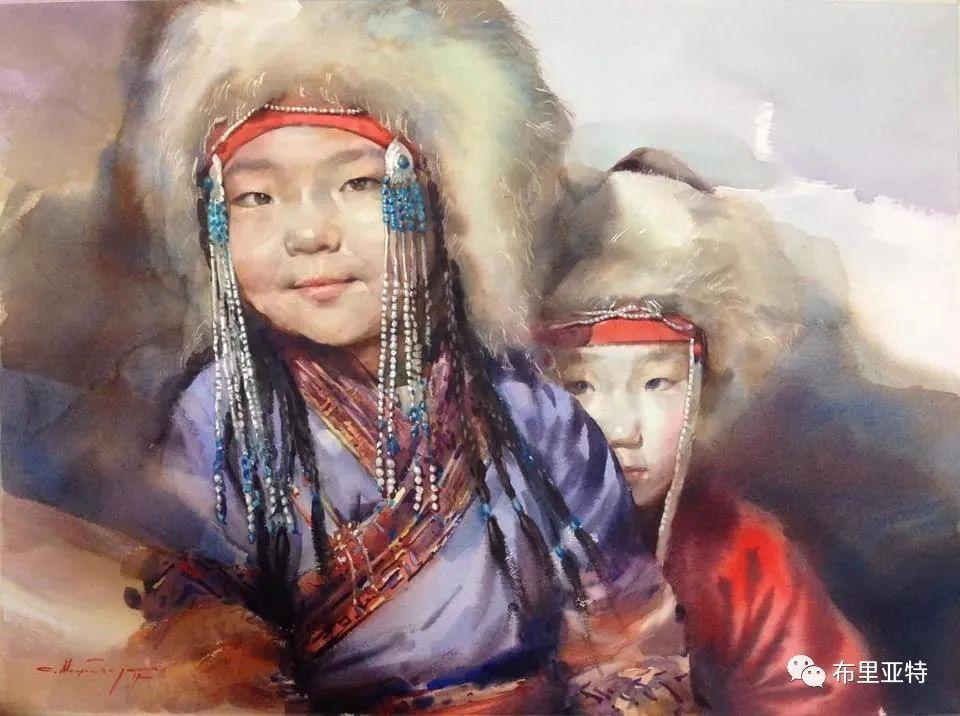 蒙古国少有的水彩画大师孟赫巴特尔作品欣赏 第5张 蒙古国少有的水彩画大师孟赫巴特尔作品欣赏 蒙古画廊
