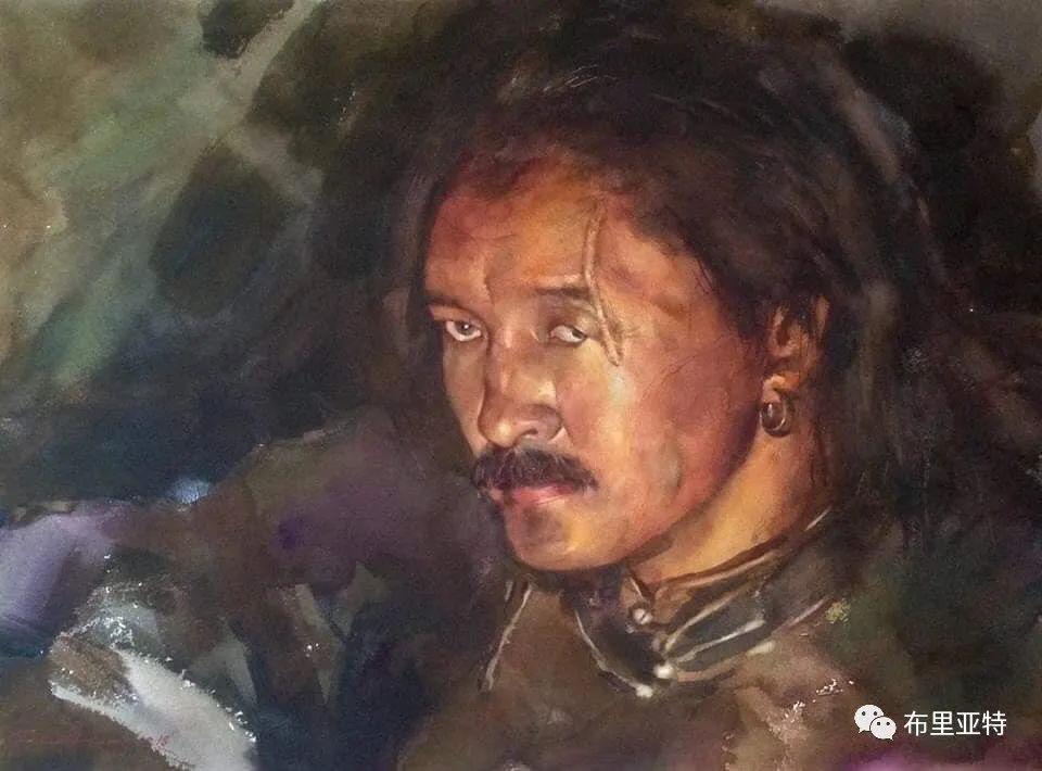蒙古国少有的水彩画大师孟赫巴特尔作品欣赏 第9张 蒙古国少有的水彩画大师孟赫巴特尔作品欣赏 蒙古画廊