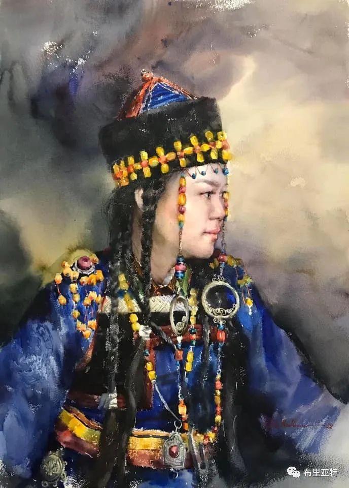 蒙古国少有的水彩画大师孟赫巴特尔作品欣赏 第8张 蒙古国少有的水彩画大师孟赫巴特尔作品欣赏 蒙古画廊