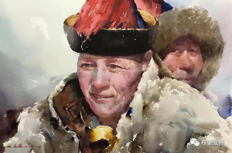 蒙古国少有的水彩画大师孟赫巴特尔作品欣赏 第7张 蒙古国少有的水彩画大师孟赫巴特尔作品欣赏 蒙古画廊