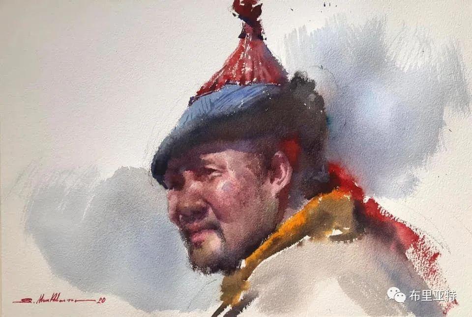 蒙古国少有的水彩画大师孟赫巴特尔作品欣赏 第10张 蒙古国少有的水彩画大师孟赫巴特尔作品欣赏 蒙古画廊
