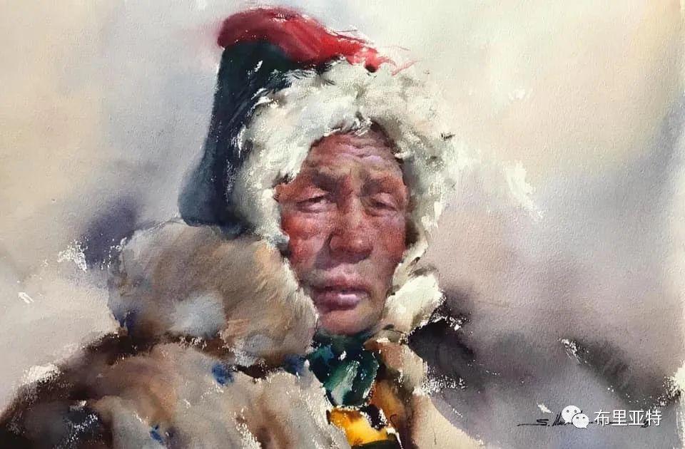 蒙古国少有的水彩画大师孟赫巴特尔作品欣赏 第6张 蒙古国少有的水彩画大师孟赫巴特尔作品欣赏 蒙古画廊