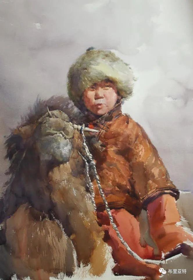 蒙古国少有的水彩画大师孟赫巴特尔作品欣赏 第13张 蒙古国少有的水彩画大师孟赫巴特尔作品欣赏 蒙古画廊