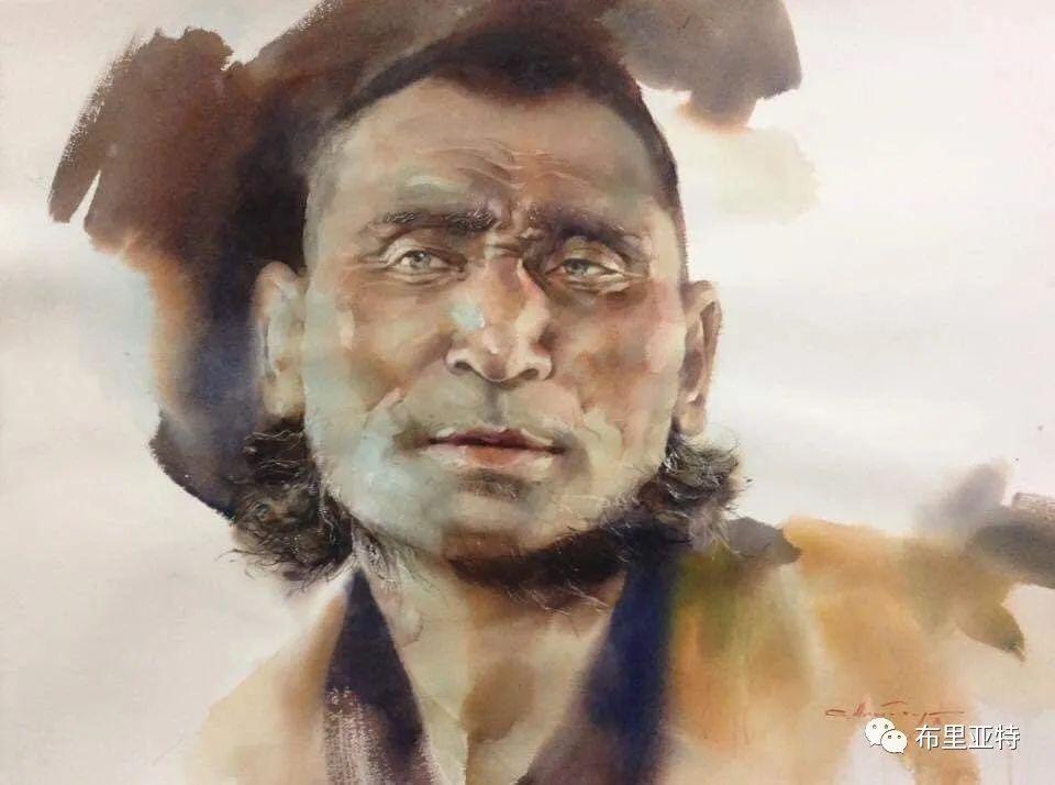蒙古国少有的水彩画大师孟赫巴特尔作品欣赏 第16张 蒙古国少有的水彩画大师孟赫巴特尔作品欣赏 蒙古画廊