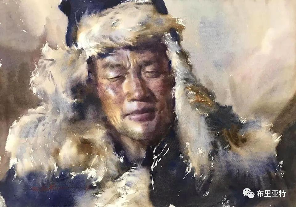 蒙古国少有的水彩画大师孟赫巴特尔作品欣赏 第12张 蒙古国少有的水彩画大师孟赫巴特尔作品欣赏 蒙古画廊