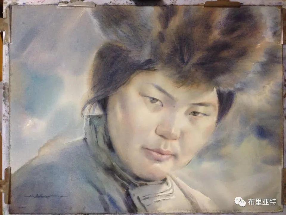 蒙古国少有的水彩画大师孟赫巴特尔作品欣赏 第15张 蒙古国少有的水彩画大师孟赫巴特尔作品欣赏 蒙古画廊