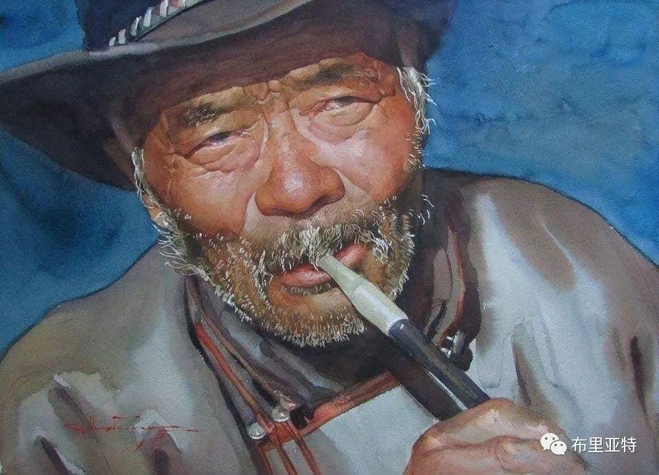 蒙古国少有的水彩画大师孟赫巴特尔作品欣赏 第14张 蒙古国少有的水彩画大师孟赫巴特尔作品欣赏 蒙古画廊