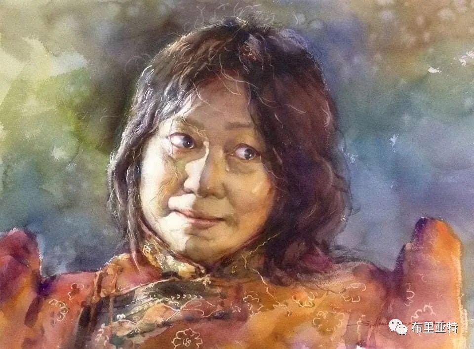 蒙古国少有的水彩画大师孟赫巴特尔作品欣赏 第18张 蒙古国少有的水彩画大师孟赫巴特尔作品欣赏 蒙古画廊