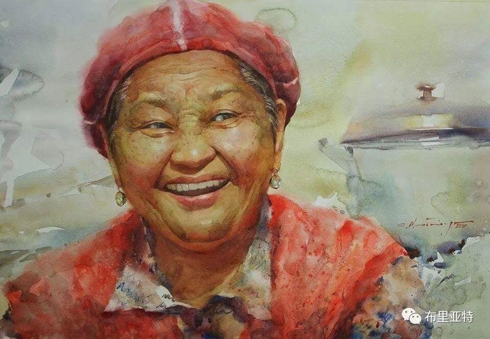 蒙古国少有的水彩画大师孟赫巴特尔作品欣赏 第19张 蒙古国少有的水彩画大师孟赫巴特尔作品欣赏 蒙古画廊