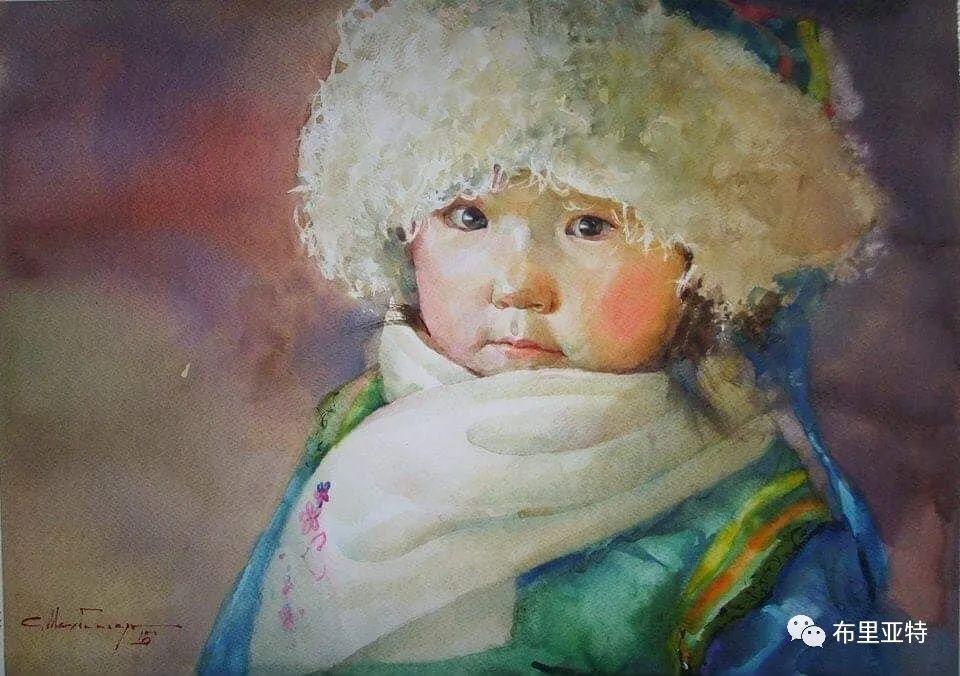 蒙古国少有的水彩画大师孟赫巴特尔作品欣赏 第20张 蒙古国少有的水彩画大师孟赫巴特尔作品欣赏 蒙古画廊