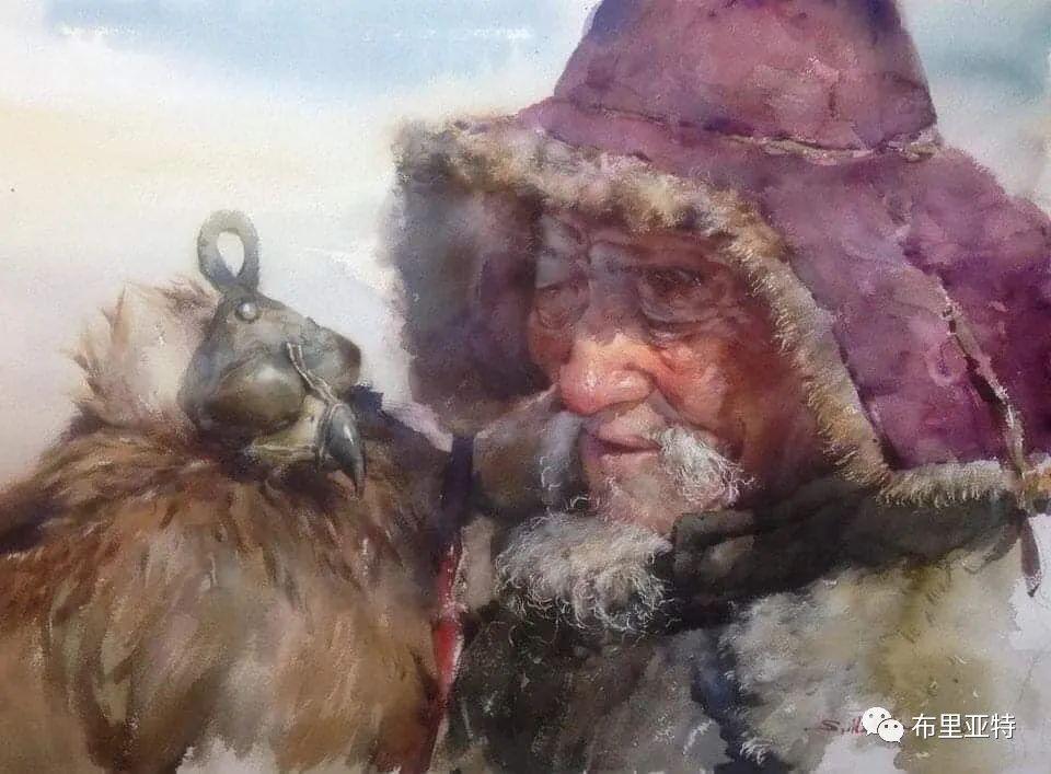 蒙古国少有的水彩画大师孟赫巴特尔作品欣赏 第17张 蒙古国少有的水彩画大师孟赫巴特尔作品欣赏 蒙古画廊