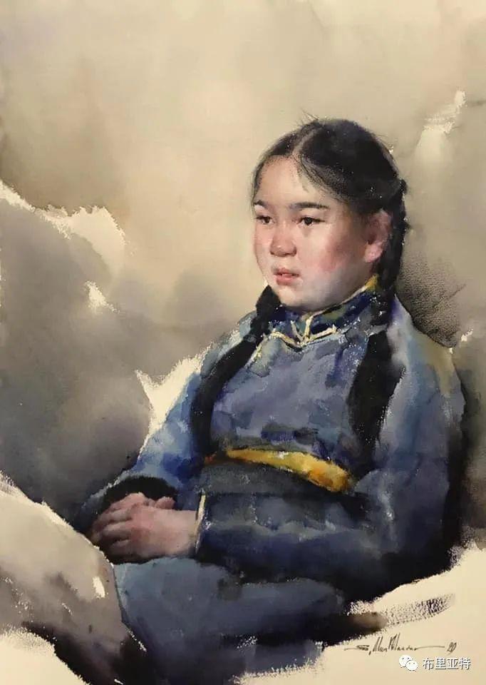 蒙古国少有的水彩画大师孟赫巴特尔作品欣赏 第24张 蒙古国少有的水彩画大师孟赫巴特尔作品欣赏 蒙古画廊