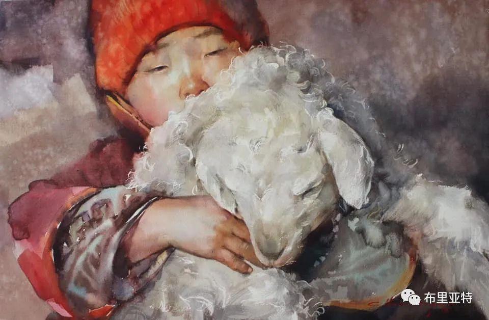 蒙古国少有的水彩画大师孟赫巴特尔作品欣赏 第26张 蒙古国少有的水彩画大师孟赫巴特尔作品欣赏 蒙古画廊