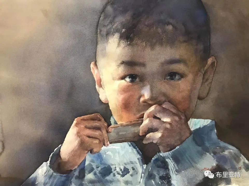 蒙古国少有的水彩画大师孟赫巴特尔作品欣赏 第28张 蒙古国少有的水彩画大师孟赫巴特尔作品欣赏 蒙古画廊