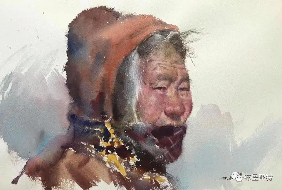 蒙古国少有的水彩画大师孟赫巴特尔作品欣赏 第30张 蒙古国少有的水彩画大师孟赫巴特尔作品欣赏 蒙古画廊