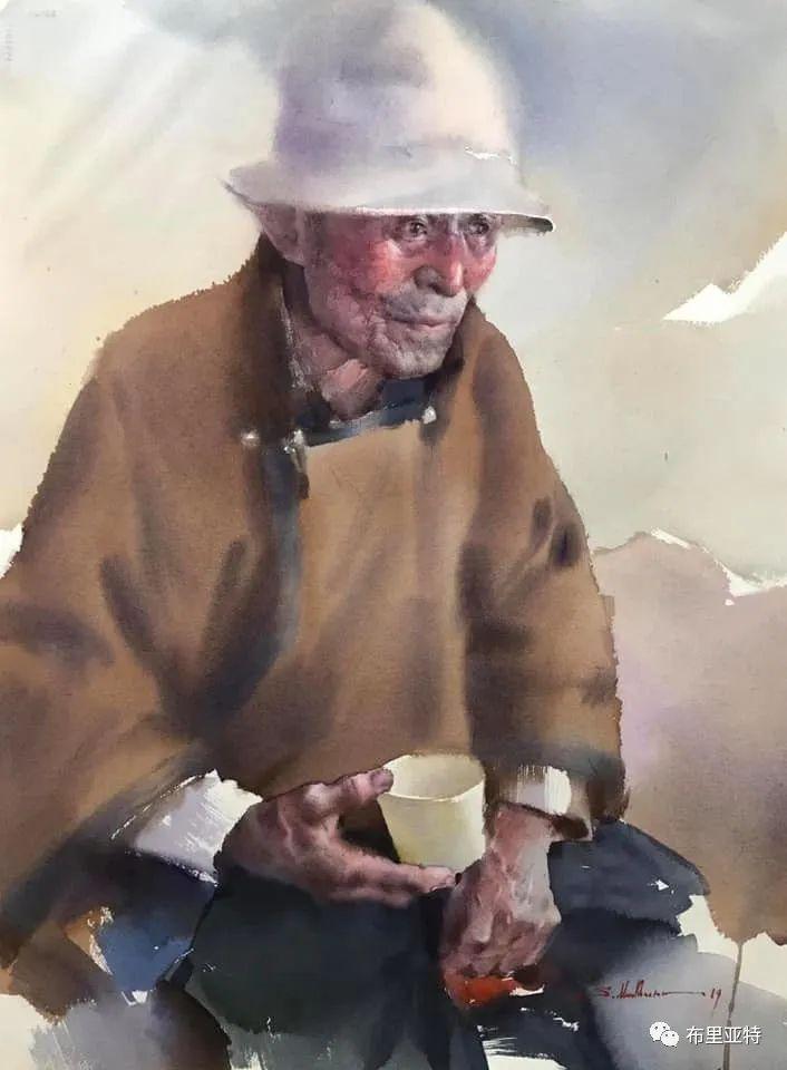 蒙古国少有的水彩画大师孟赫巴特尔作品欣赏 第35张 蒙古国少有的水彩画大师孟赫巴特尔作品欣赏 蒙古画廊