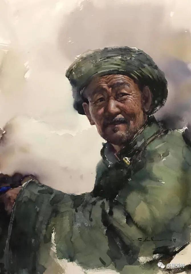 蒙古国少有的水彩画大师孟赫巴特尔作品欣赏 第32张 蒙古国少有的水彩画大师孟赫巴特尔作品欣赏 蒙古画廊