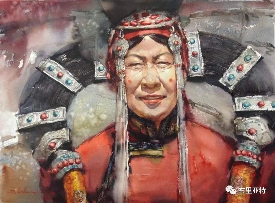 蒙古国少有的水彩画大师孟赫巴特尔作品欣赏 第31张 蒙古国少有的水彩画大师孟赫巴特尔作品欣赏 蒙古画廊