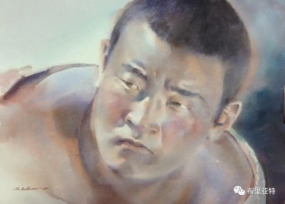 蒙古国少有的水彩画大师孟赫巴特尔作品欣赏 第36张 蒙古国少有的水彩画大师孟赫巴特尔作品欣赏 蒙古画廊
