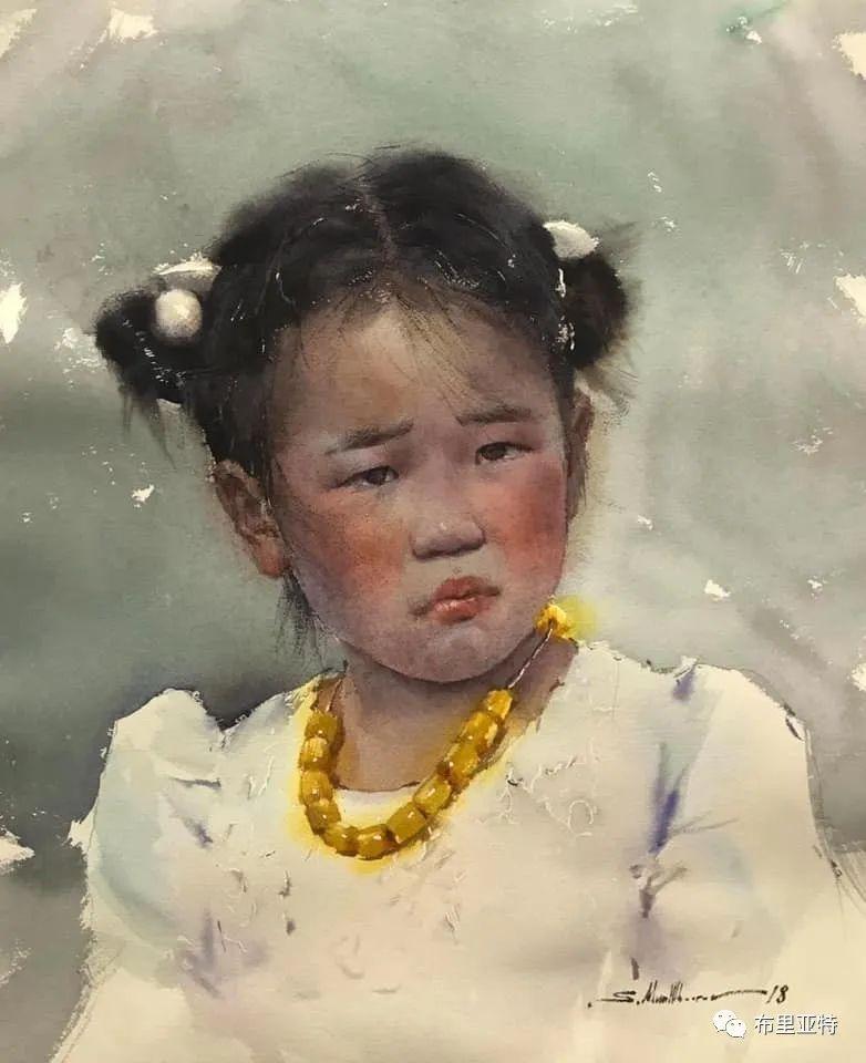 蒙古国少有的水彩画大师孟赫巴特尔作品欣赏 第39张 蒙古国少有的水彩画大师孟赫巴特尔作品欣赏 蒙古画廊