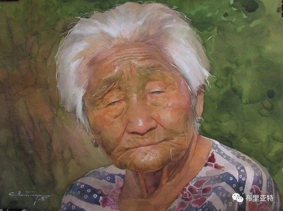 蒙古国少有的水彩画大师孟赫巴特尔作品欣赏 第41张 蒙古国少有的水彩画大师孟赫巴特尔作品欣赏 蒙古画廊