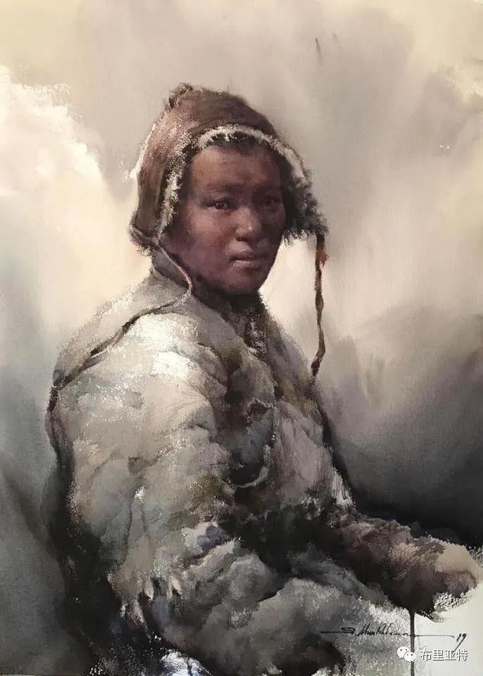 蒙古国少有的水彩画大师孟赫巴特尔作品欣赏 第43张 蒙古国少有的水彩画大师孟赫巴特尔作品欣赏 蒙古画廊