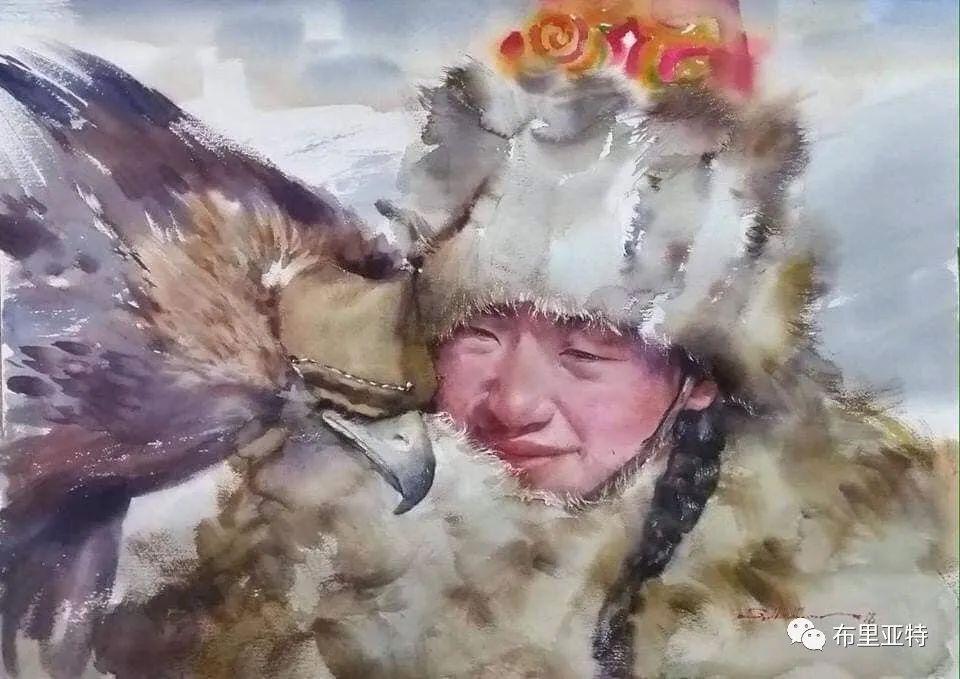 蒙古国少有的水彩画大师孟赫巴特尔作品欣赏 第44张 蒙古国少有的水彩画大师孟赫巴特尔作品欣赏 蒙古画廊