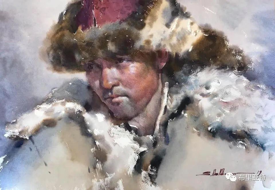 蒙古国少有的水彩画大师孟赫巴特尔作品欣赏 第45张 蒙古国少有的水彩画大师孟赫巴特尔作品欣赏 蒙古画廊