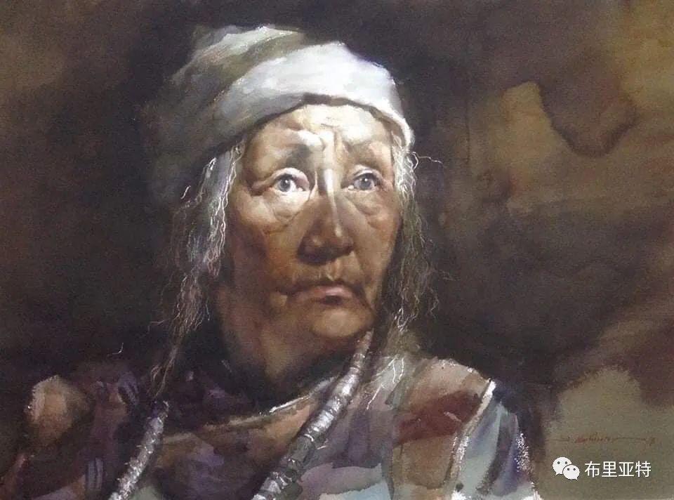 蒙古国少有的水彩画大师孟赫巴特尔作品欣赏 第47张 蒙古国少有的水彩画大师孟赫巴特尔作品欣赏 蒙古画廊