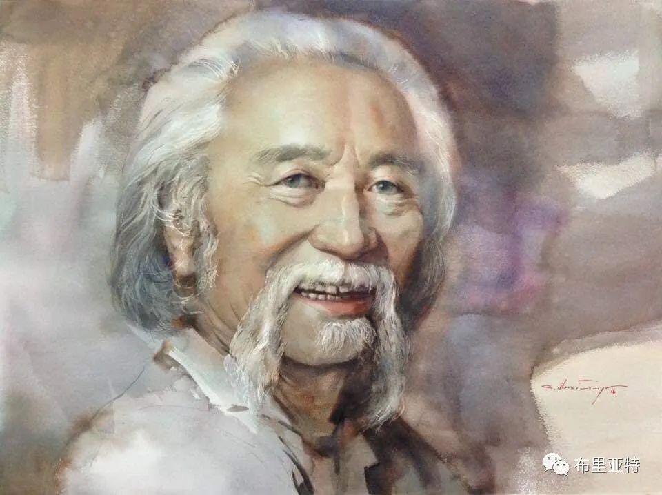 蒙古国少有的水彩画大师孟赫巴特尔作品欣赏 第54张 蒙古国少有的水彩画大师孟赫巴特尔作品欣赏 蒙古画廊