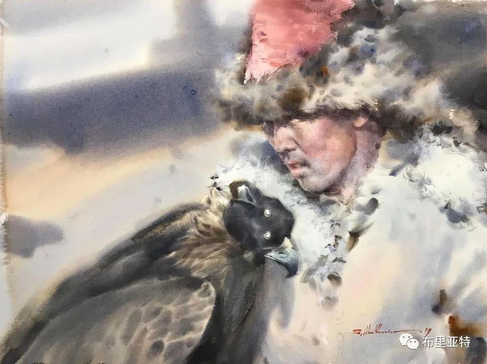 蒙古国少有的水彩画大师孟赫巴特尔作品欣赏 第56张 蒙古国少有的水彩画大师孟赫巴特尔作品欣赏 蒙古画廊