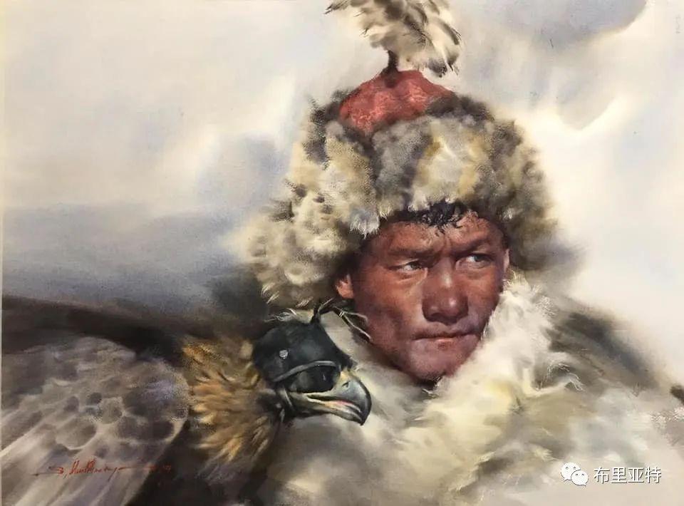蒙古国少有的水彩画大师孟赫巴特尔作品欣赏 第52张 蒙古国少有的水彩画大师孟赫巴特尔作品欣赏 蒙古画廊