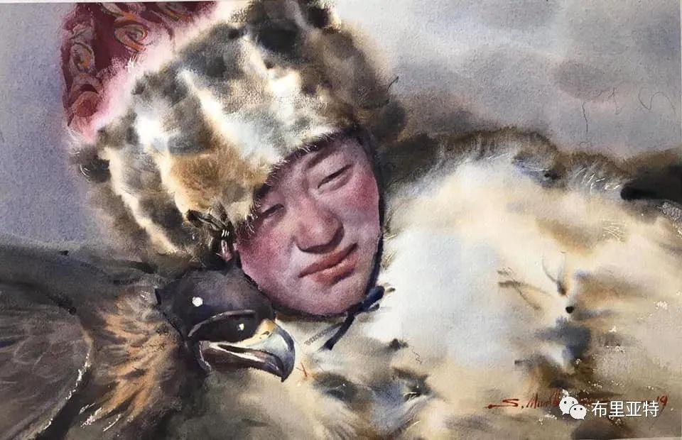 蒙古国少有的水彩画大师孟赫巴特尔作品欣赏 第53张 蒙古国少有的水彩画大师孟赫巴特尔作品欣赏 蒙古画廊