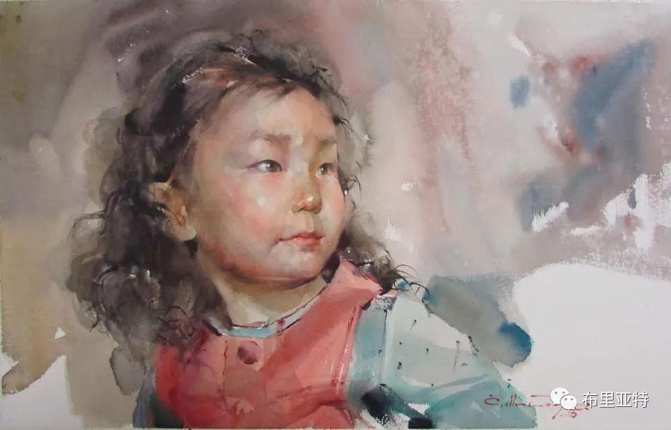蒙古国少有的水彩画大师孟赫巴特尔作品欣赏 第55张 蒙古国少有的水彩画大师孟赫巴特尔作品欣赏 蒙古画廊