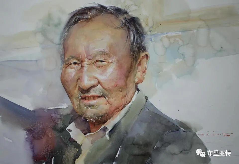 蒙古国少有的水彩画大师孟赫巴特尔作品欣赏 第61张 蒙古国少有的水彩画大师孟赫巴特尔作品欣赏 蒙古画廊