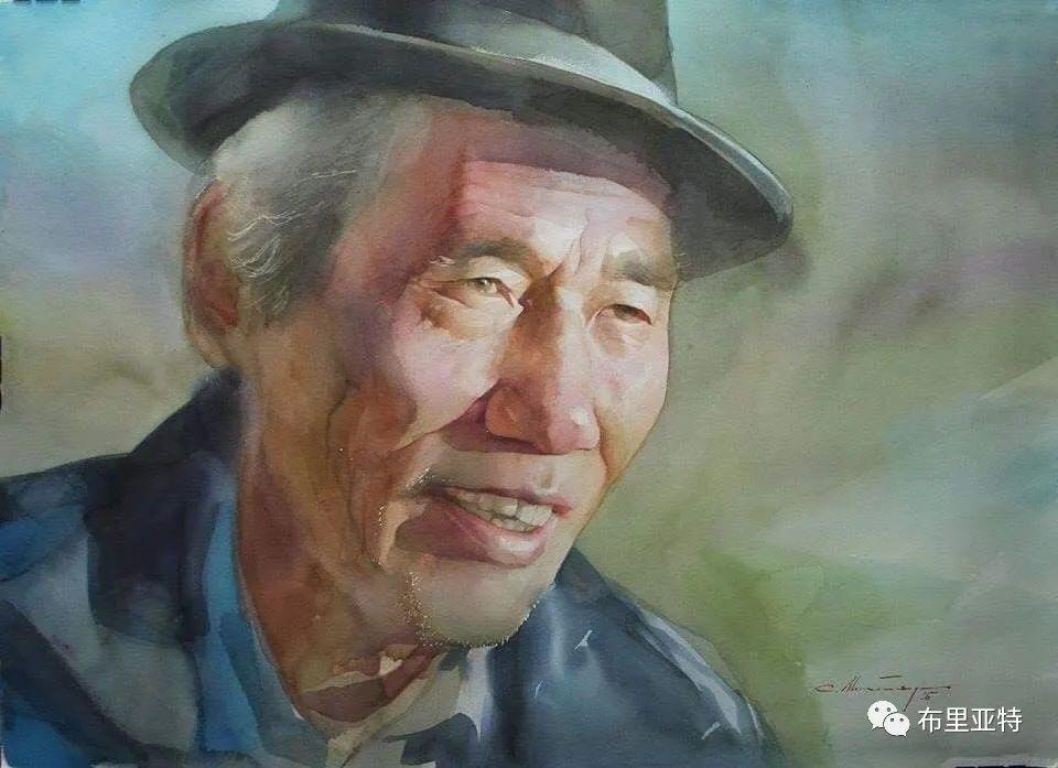 蒙古国少有的水彩画大师孟赫巴特尔作品欣赏 第60张 蒙古国少有的水彩画大师孟赫巴特尔作品欣赏 蒙古画廊