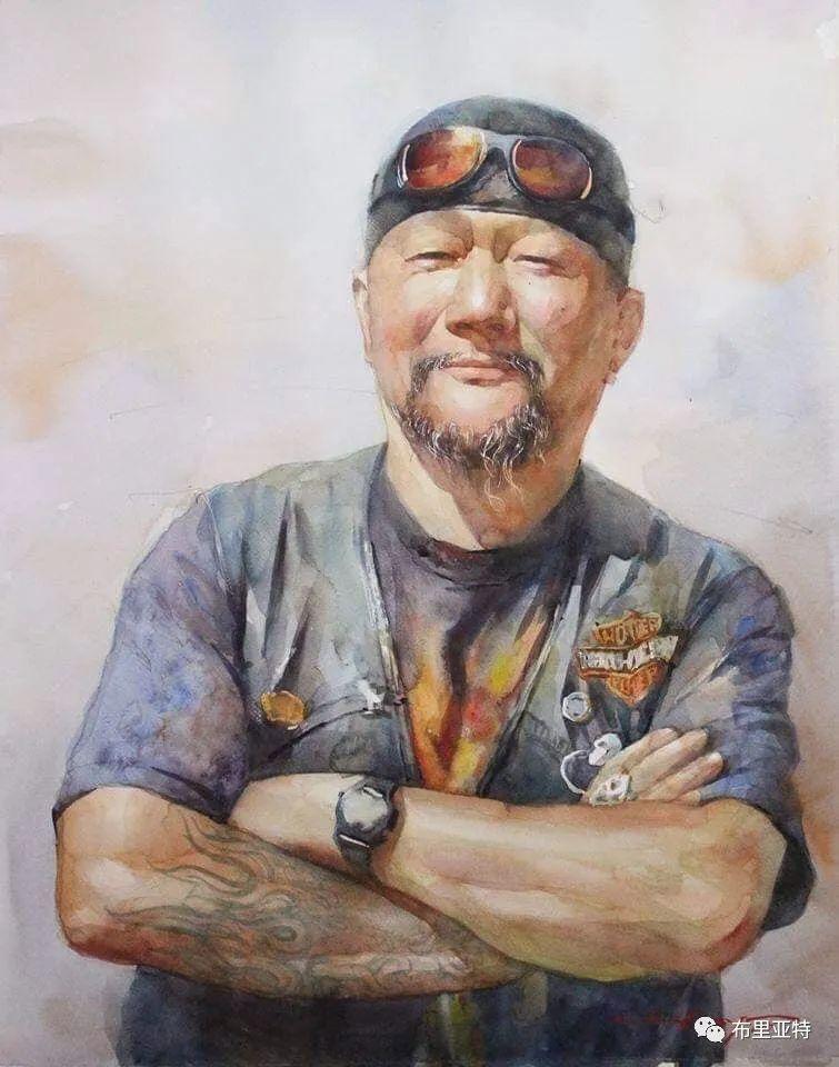 蒙古国少有的水彩画大师孟赫巴特尔作品欣赏 第57张 蒙古国少有的水彩画大师孟赫巴特尔作品欣赏 蒙古画廊