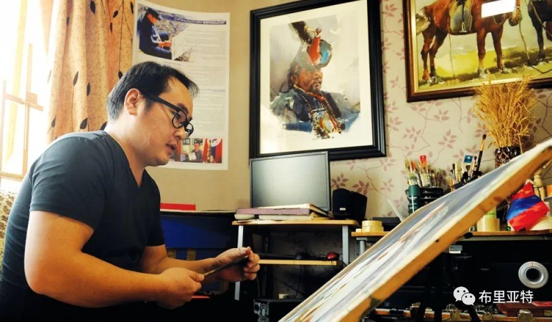 蒙古国少有的水彩画大师孟赫巴特尔作品欣赏 第66张 蒙古国少有的水彩画大师孟赫巴特尔作品欣赏 蒙古画廊