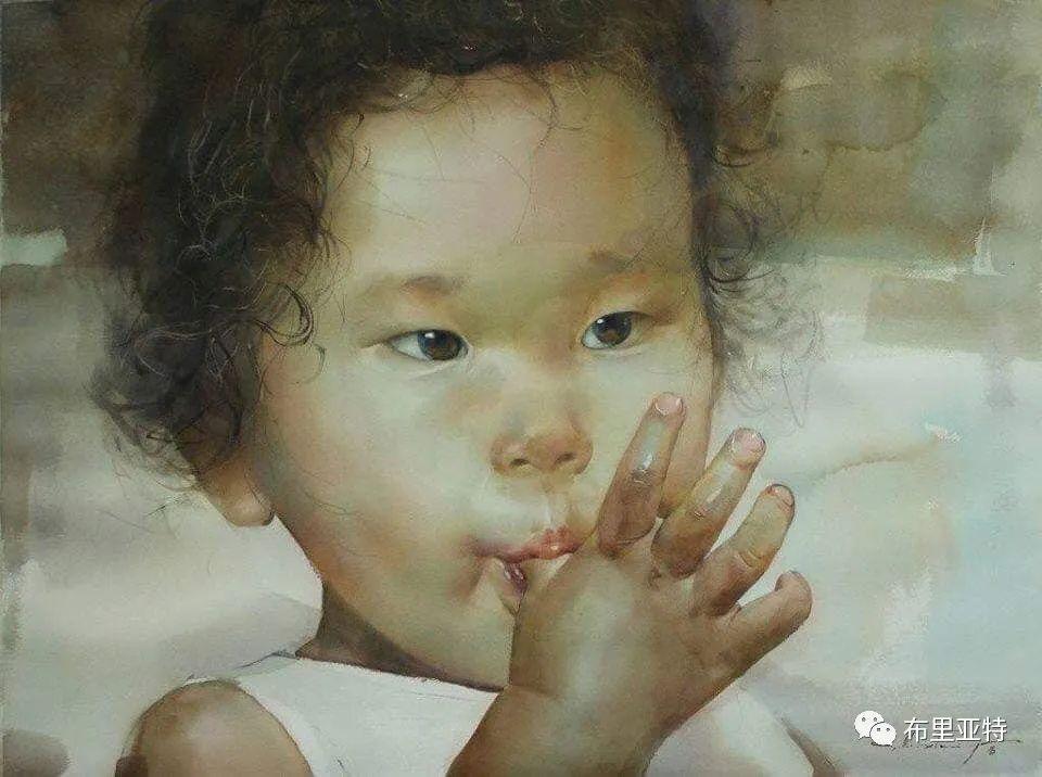 蒙古国少有的水彩画大师孟赫巴特尔作品欣赏 第62张 蒙古国少有的水彩画大师孟赫巴特尔作品欣赏 蒙古画廊